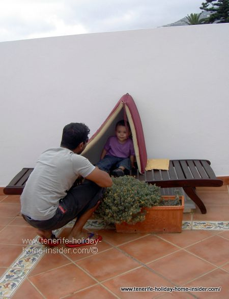 Toddler proof balcony enclosure by Orotava hotel