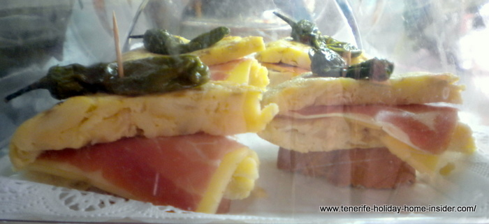 Tortilla rellena con Jamon Spanish Omelette with bacon