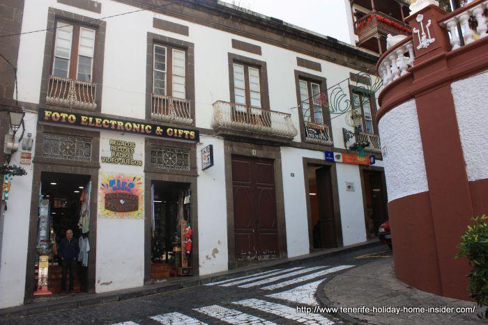 Tourist information building in calle San Sebastian opposite Plaza de Lorenzo Caceres.