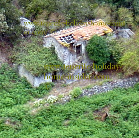 Traditional Canary house ruined