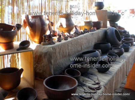 Traditional pottery at craft fairCustomary musical instruments