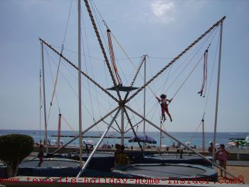 Trampolins by Tenerife beaches