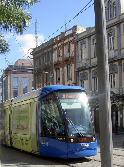 Tranvia Metro operated by Titsa Tenerife transport.