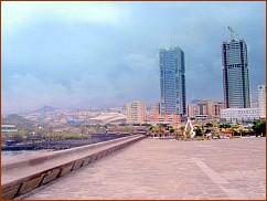 Twin towers of Tenerife capital
