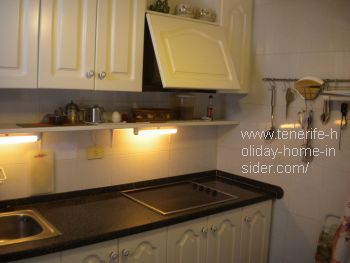 Under cupboard lamp for American kitchen