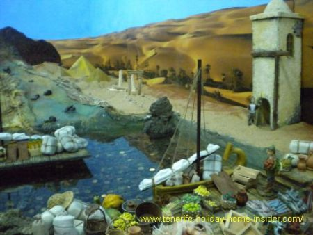 Unusual nativity scenes Tenerife exhibition of Belenes as part of yearly Tenerife events that stop after Reyes