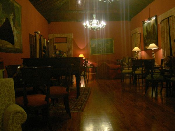 Upstairs concert room at Abaco.