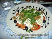 Meat free food Rucola Salad with food art Tenerife