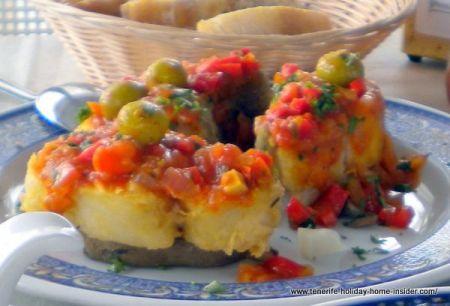 Vegetarian dish by la Abadia Restaurant.