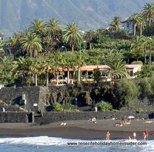 View Playa Jardin from Restaurante Tambo