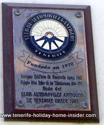 Vintage Cars club billboard -Club automoviles antiguos Tenerife