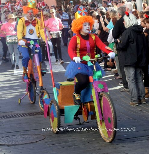 Vintage tricycle of Puerto de la Cruz Carnaval of Tenerife of 2017.