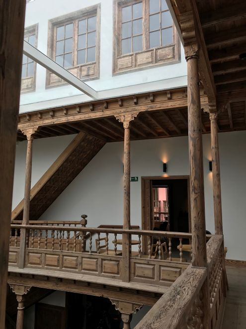 Virgin TEA timber balconies carried by slender wooden pillars make up the galleries on the Casa Miranda first floor and create natural ventilation.