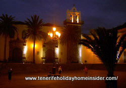Extremely lovely warm light by Convent San Francisco opposite Tenerife Quinta Roja Hotel