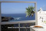 Washing basin on balcony veranda of  Tenerife holiday apartment