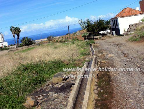 Farm irrigation water channel Calle Piris