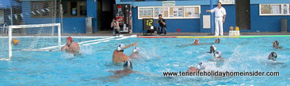 Waterball match live in Puerto de la Cruz