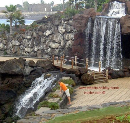 Waterfall retaining walls design by Cesar Manrique