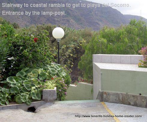 Rambla from Rambla del Mar to Playa del Socorro.