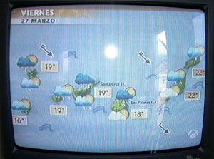 weather forecast for March 28 on my TV screen