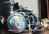 Wheelchair of Hotel Monopol Tenerife