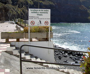 wheelchair access on icod de los vinos beach