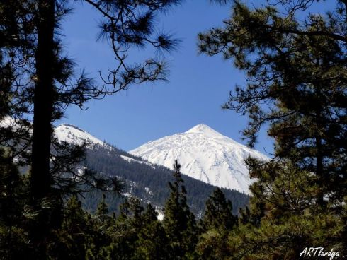 White Teide Volcano in February 2016