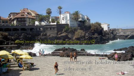 Windy corner bay at  San Telmo beach Puerto de la Cruz Spain