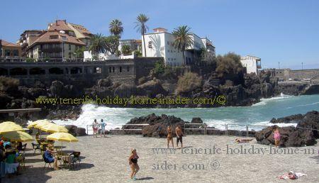 Windy corner bay at  San Telmo beach Puerto de la Cruz Spain