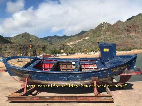 Wooden fishing boat at the Marina Las Teresitas San Andres