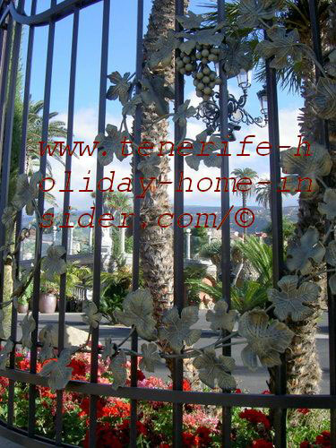 Wrought iron gate on Tenerife Island