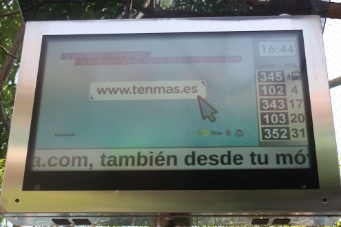 A Tenmás promotion on overhead screen and more