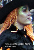 A witch  of Tenerife carnival costume