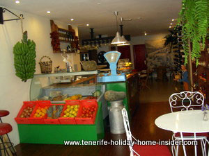 antique scale in modern shop with bar Tenerife Puerto Cruz Spain