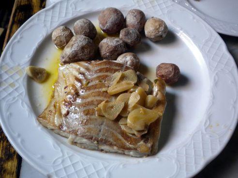 Bacalao cod with Papas Arrugadas.