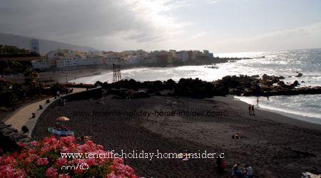 Beach landscapes beach Playa Charcon and Punta brava of Puerto de la Cruz Tenerife beaches