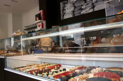 Cakes by Relieve Cafe,  not all of which fit into the photo.