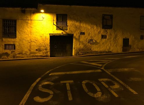 Turn right at the corner Calles Bancales and La Gorvorana to get to the TF5 to Santa Cruz and to Icod de Los Vinos.