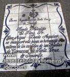Calligraphy as stone mosaic painting honors Tenerife mayor