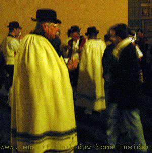 Capes called Tamarcos typical traditional clothes in Tenerife