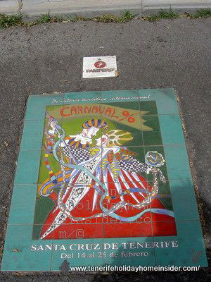 Carnival poster Tenerife 1996  with 2 Harlequins