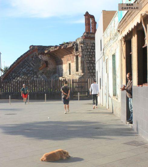 Castillo San Andres ruin of 2016.