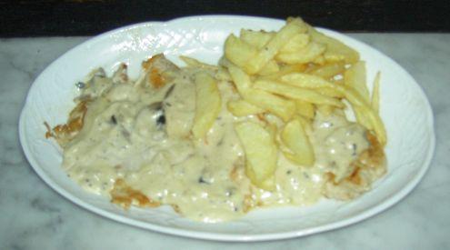 Creamy, herbal Mushroom Chicken Fricassee.