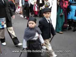 Carnival children dressed almost in black