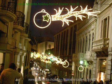 Christmas lighting in Orotava street