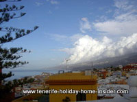 Romantic clouds over Puerto de la Cruz