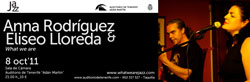 Concert poster by Tenerife Auditorium for Anna Rodrigues and Eliseo Jazz concert