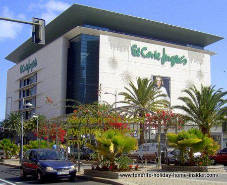Corte Ingles Tenerife Santa Cruz capital