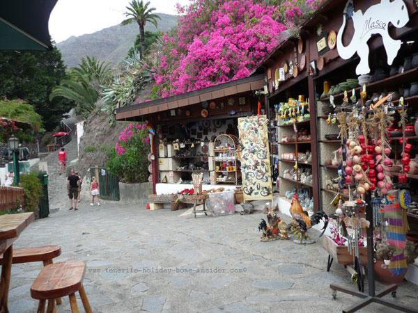 Curio shop Masca Tenerife souvenirs.