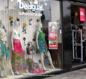 Desigual clothing window display